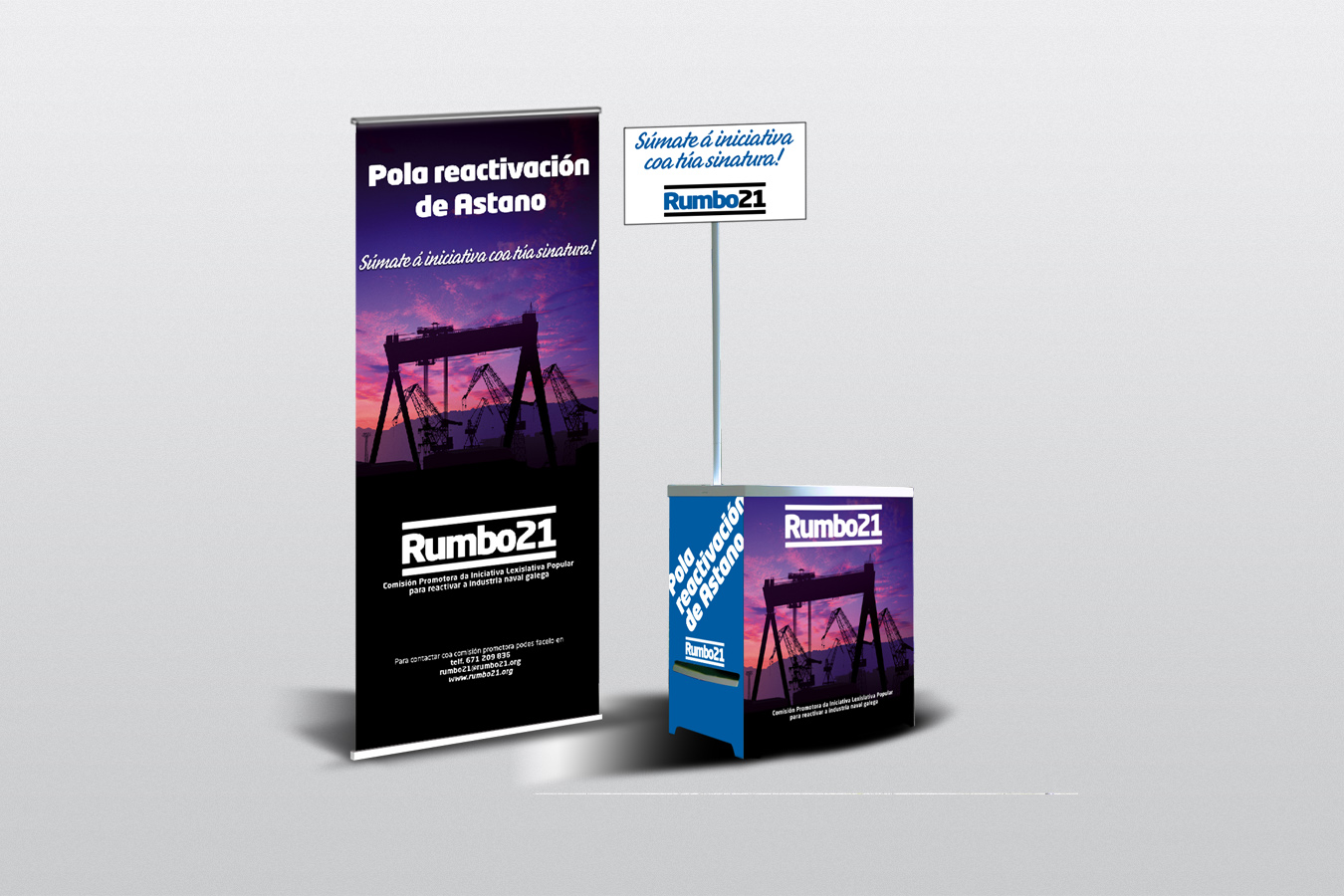 RUMBO21 roll up e ministand